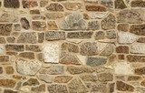 seamless ashlar old stone wall texture background  Mur Fototapeta