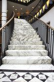 White marble stair in luxury interior  Schody Fototapeta