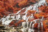 Beautiful waterfall in Thailand  Wodospad Fototapeta