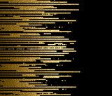 Banner with gold texture lines decoration on the black background. Fototapety do Kawiarni Fototapeta