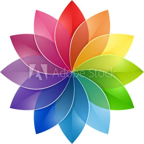 Color Wheel Flower  Na sufit Naklejka