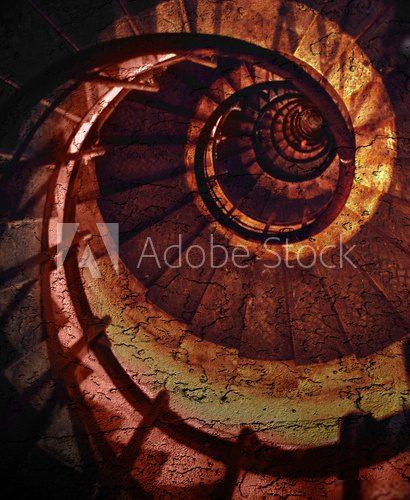 abstract spiral grunge pattern  Schody Fototapeta