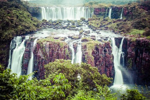Iguassu Falls,the largest waterfalls of the world,Brazilian side  Wodospad Fototapeta