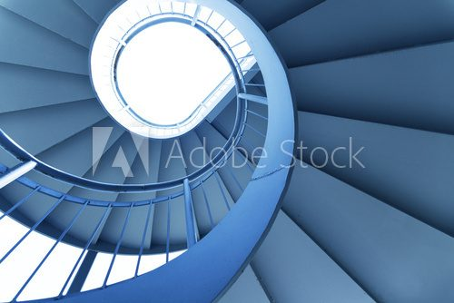 Rotation of the outdoor staircase  Schody Fototapeta