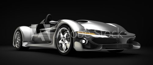 Sports car road-star isolated on black 3d render  Pojazdy Obraz