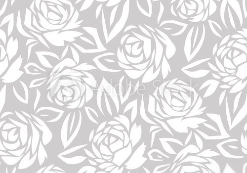 Seamless abstract rose flower background Styl Klasyczny Fototapeta