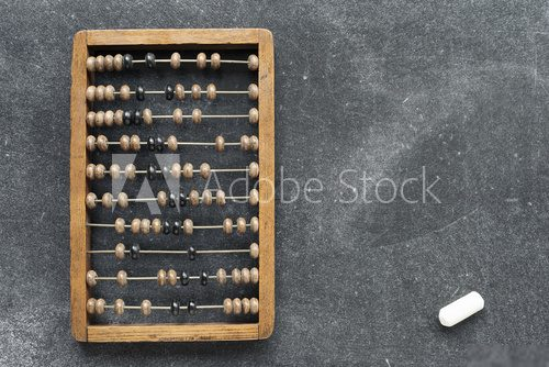 vintage abacus with chalk Biuro Plakat