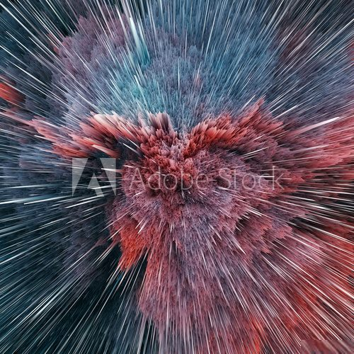 Colorful galaxy abstract cosmic background. Shiny fantasy universe. Deep cosmos. Infinity exploration. 3d illustration Abstrakcja Obraz