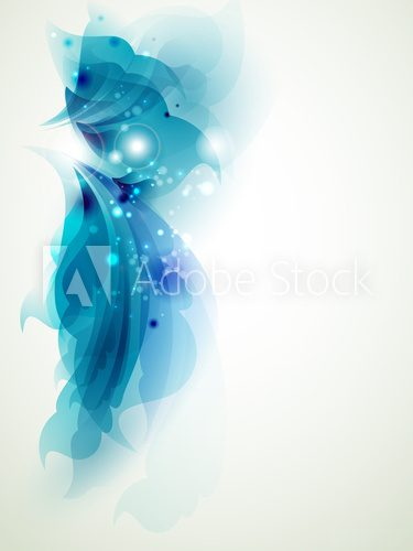 Abstract  blue  elements for design  Kwiaty Plakat
