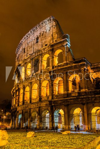 Colosseum in Rome, Italy  Architektura Plakat