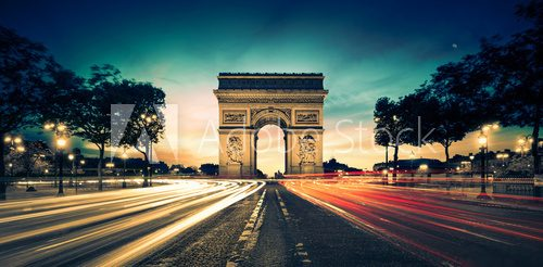 Arc de Triomphe Paris France  Architektura Plakat