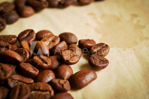 Coffee beans in warm tones  Kawa Fototapeta
