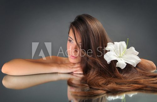 beautiful woman  Obrazy do Salonu SPA Obraz