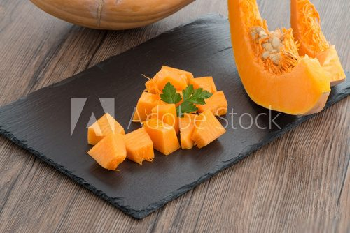 Sliced pumpkin  Obrazy do Kuchni  Obraz
