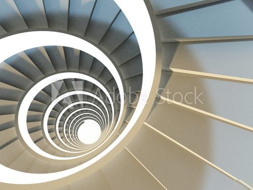 Abstract spiral staircase  Schody Fototapeta