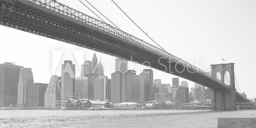Nowy York – Most na Brooklyn  Architektura Fototapeta