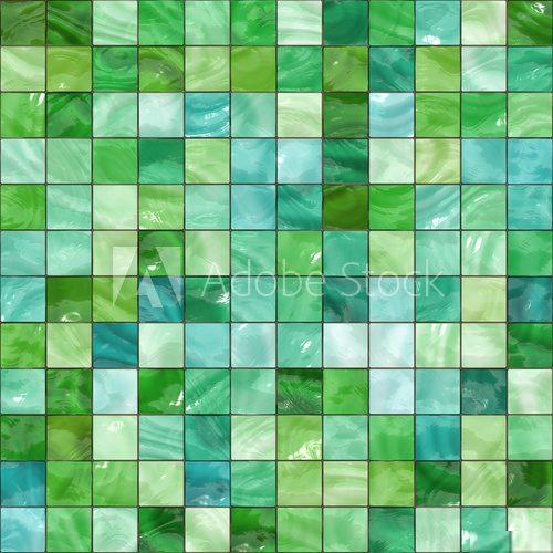 Zielona Mozaika Perła Na ścianie Fototapety Do łazienki
