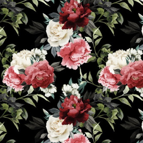 Seamless floral pattern with roses, watercolor. Vector illustrat Tapety Kwiaty Tapeta