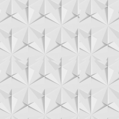 White shaded abstract geometric pattern. Origami paper style. 3D rendering background. Tapety 3D Tapeta