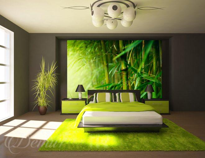 Schlafzimmer Mit Tapete Gestalten : Soczysta zielen bambusa – do ...