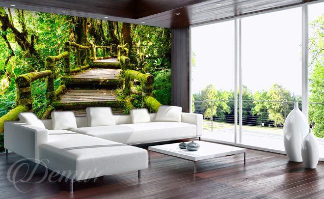 zielone schody do salonu fototapety demur. Black Bedroom Furniture Sets. Home Design Ideas