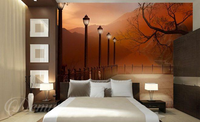 Magia Oświetlenia Do Sypialni Fototapety Demur