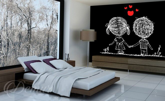na zawsze razem do sypialni fototapety demur. Black Bedroom Furniture Sets. Home Design Ideas