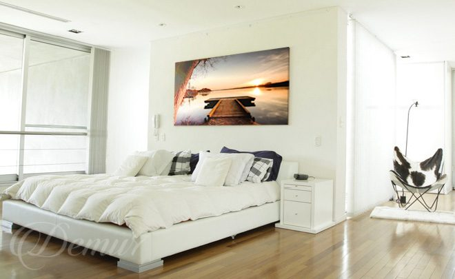 Na tafli jeziora sypialniany spok j do sypialni - Leinwandbilder schlafzimmer ...