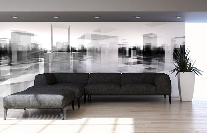 Monochromatyczny Widok Trojwymiarowe 3d Fototapety Demur