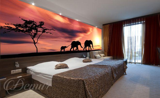 Afryka skie s onie do sypialni fototapety demur - Schlafzimmer afrika style ...