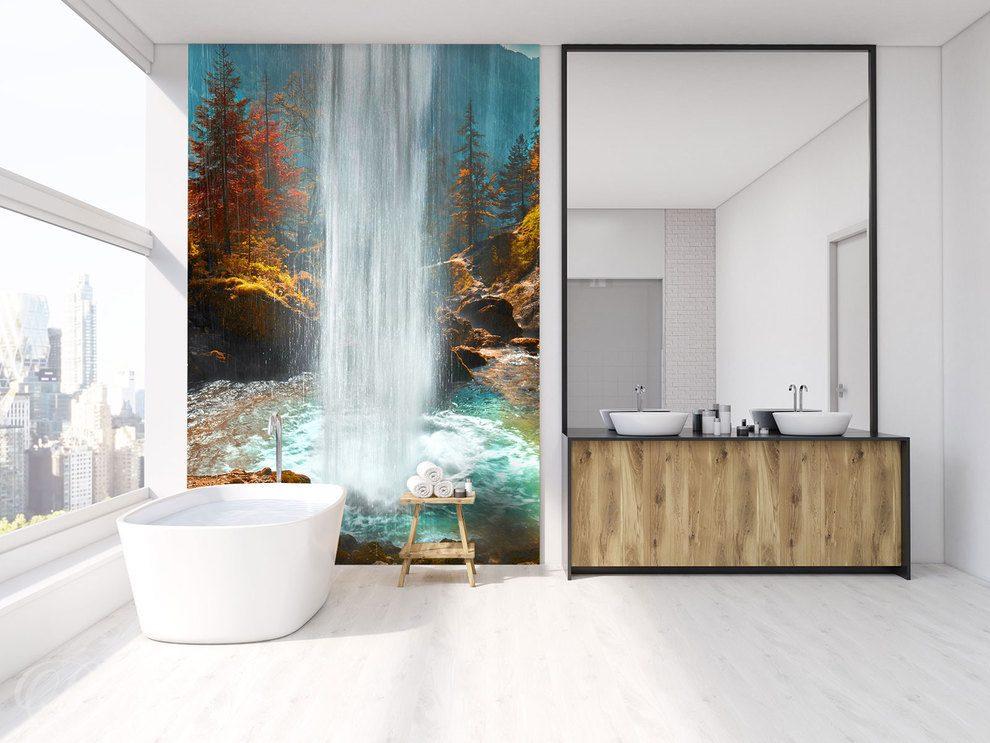 Wodospadem Z Wielkich Wód Do łazienki Fototapety Demur