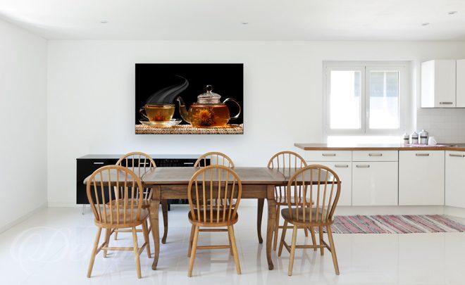 Smak Herbaty  do kuchni  Obrazy  Demur -> Kuchnia Wloska Obrazy
