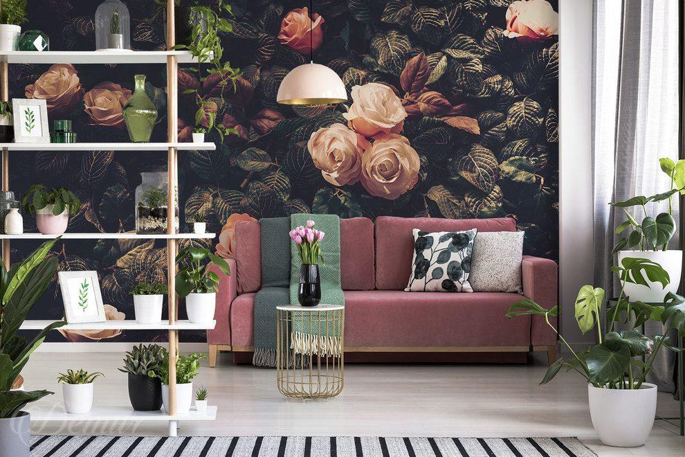 Poważne Na górze róże - do salonu - Fototapety - Demur ZM49